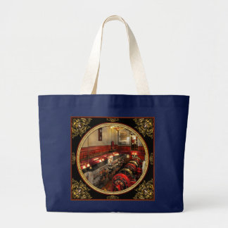 Steampunk - The Engine Room 1974 Large Tote Bag