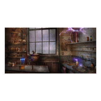 Steampunk - The Mad Scientist Photo Card Template