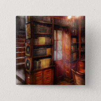 Steampunk - The semi-private study 2 Inch Square Button