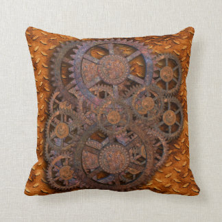 Steampunk Throw Pillow