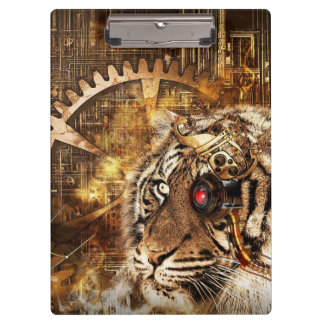 Steampunk Tiger Clipboard