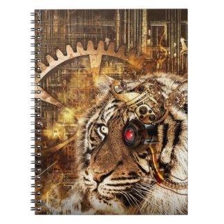 Steampunk Tiger Notebooks