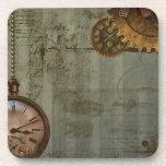 Steampunk Time Machine Beverage Coaster