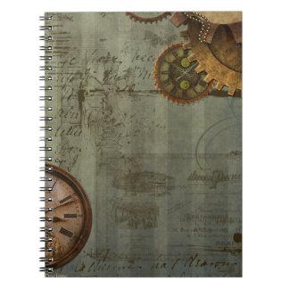 Steampunk Time Machine Notebook
