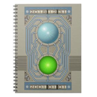 Steampunk time machine notebooks