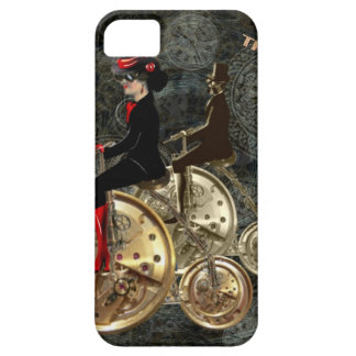 Steampunk time travel, clockwork penny farthing case for the iPhone 5