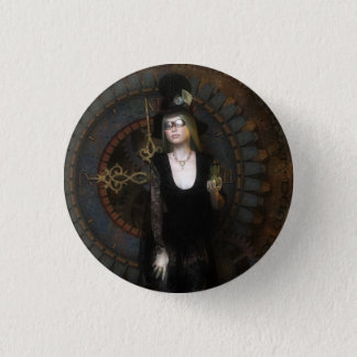 Steampunk timekeeper button