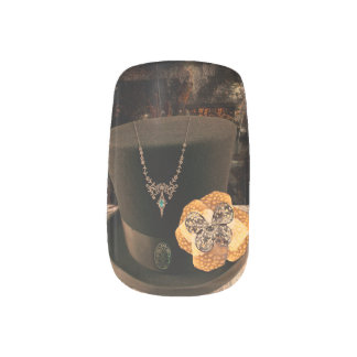 Steampunk Top hat Nail Art Decals