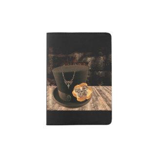 Steampunk Top Hat Passport Case