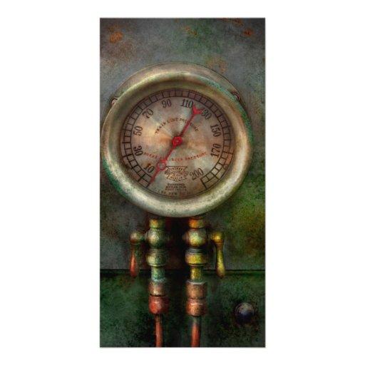Steampunk - Train - Brake cylinder pressure Photo Card