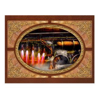 Steampunk - Train - The super express Postcard