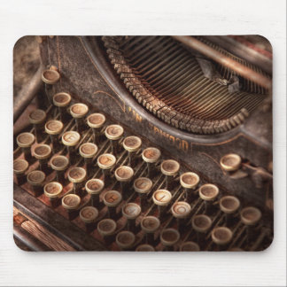 Steampunk - Typewriter - Too tuckered to type Mouse Pad