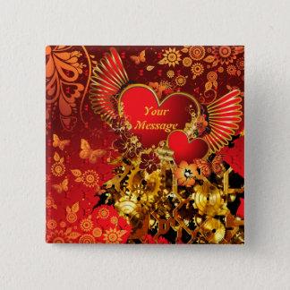 Steampunk Valentine 2 Button