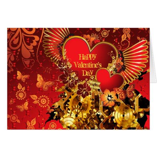 Steampunk Valentine 2 Card