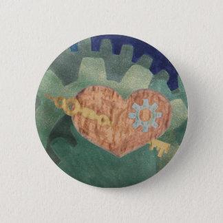 Steampunk Valentine in copper 2 Inch Round Button