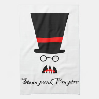 Steampunk Vampire Kitchen Towel