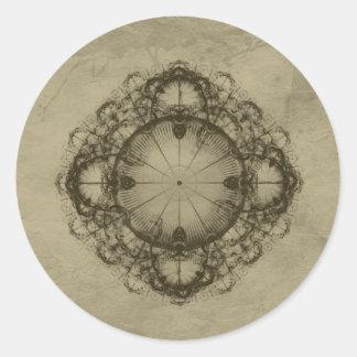 Steampunk Victorian design art Classic Round Sticker
