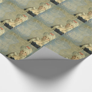 Steampunk Victorian Lady Corset Wrapping Paper