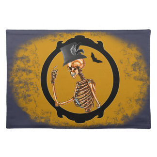 Steampunk Victorian Skeleton 2 Placemat