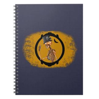 Steampunk Victorian Skeleton 2 Spiral Notebook