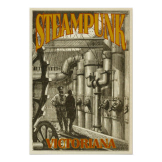 Steampunk Victoriana Poster