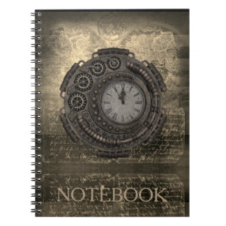 Steampunk Vintage Clock Timepiece Notebook