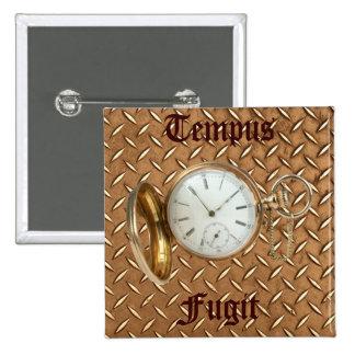 Steampunk Vintage & Historic Theme 2 Inch Square Button