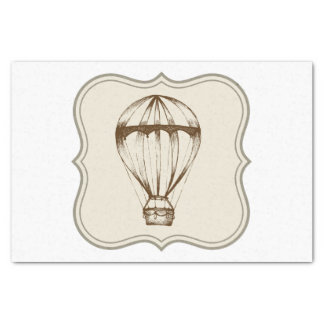 Steampunk Vintage Hot Air Balloon Tissue Paper