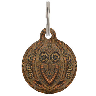 Steampunk Vintage Kaleidoscope  Dog Cat Tags