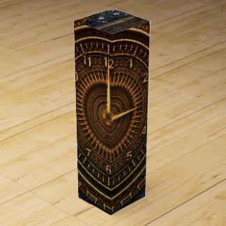 Steampunk Vintage Old-Fashioned Copper Clockwork Wine Box