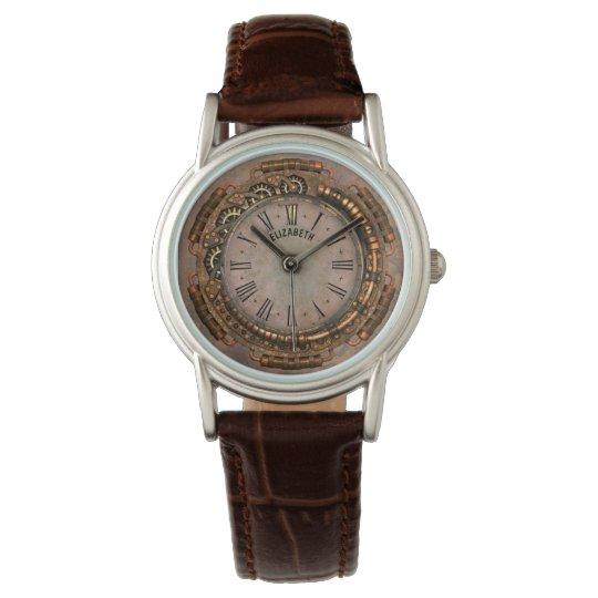Steampunk Vintage Rusty Art Deco Clock Wristwatch