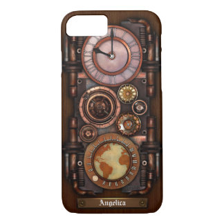 Steampunk Vintage Timepiece #1B iPhone 7 Case