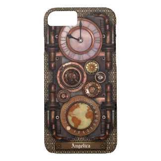 Steampunk Vintage Timepiece #1C iPhone 8/7 Case