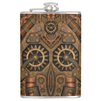 Steampunk Vinyl Wrapped Flask