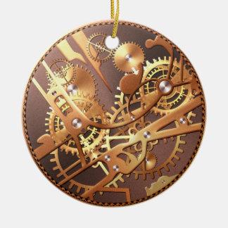 steampunk watch gears ceramic ornament