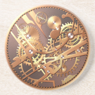 steampunk watch gears coaster