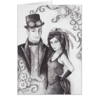 Steampunk Wedding - Notecard