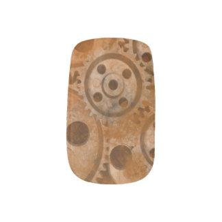 Steampunk Wheels Minx Nail Art