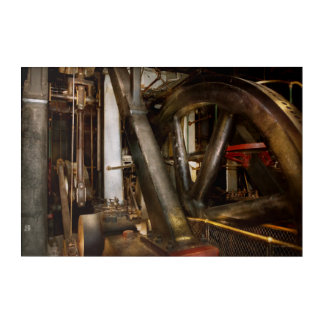 Steampunk - Wheels of progress Acrylic Wall Art
