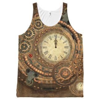 Steampunk, wonderful clockwork All-Over-Print tank top