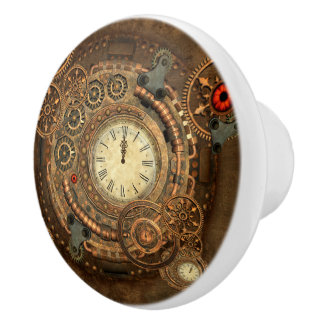 Steampunk, wonderful clockwork ceramic knob