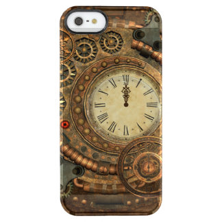 Steampunk, wonderful clockwork clear iPhone SE/5/5s case