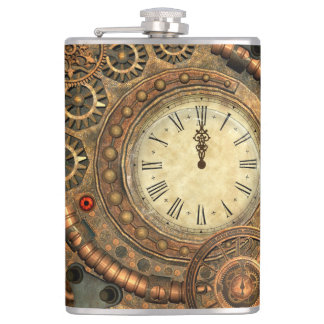 Steampunk, wonderful clockwork hip flask