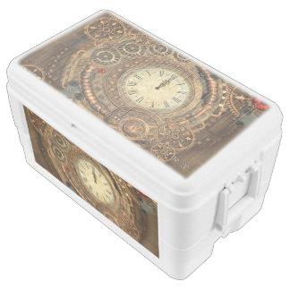 Steampunk, wonderful clockwork ice chest
