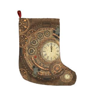 Steampunk, wonderful clockwork large christmas stocking