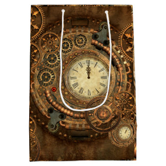 Steampunk, wonderful clockwork medium gift bag