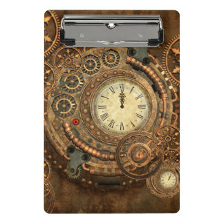 Steampunk, wonderful clockwork mini clipboard