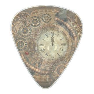Steampunk, wonderful clockwork pearl celluloid guitar pick