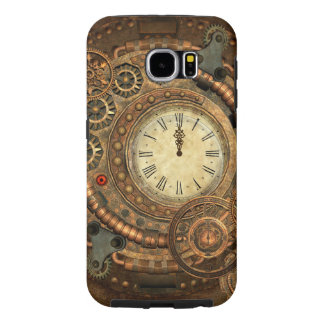 Steampunk, wonderful clockwork samsung galaxy s6 cases