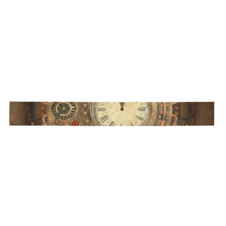 Steampunk, wonderful clockwork satin ribbon